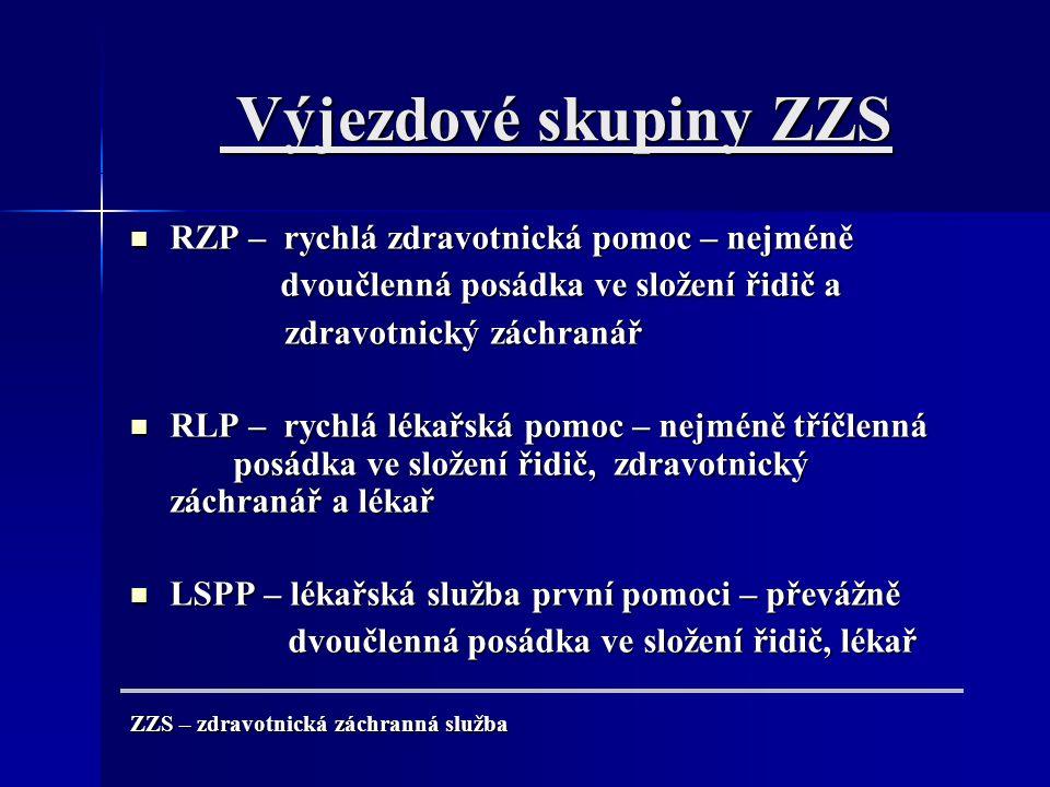 RLP x Randez Vous Nahrazení Rychlé lékařské pomoci systémem Randez Vous z hlediska nedostatku lékařských pracovníků na ZZS z ekonomického hlediska