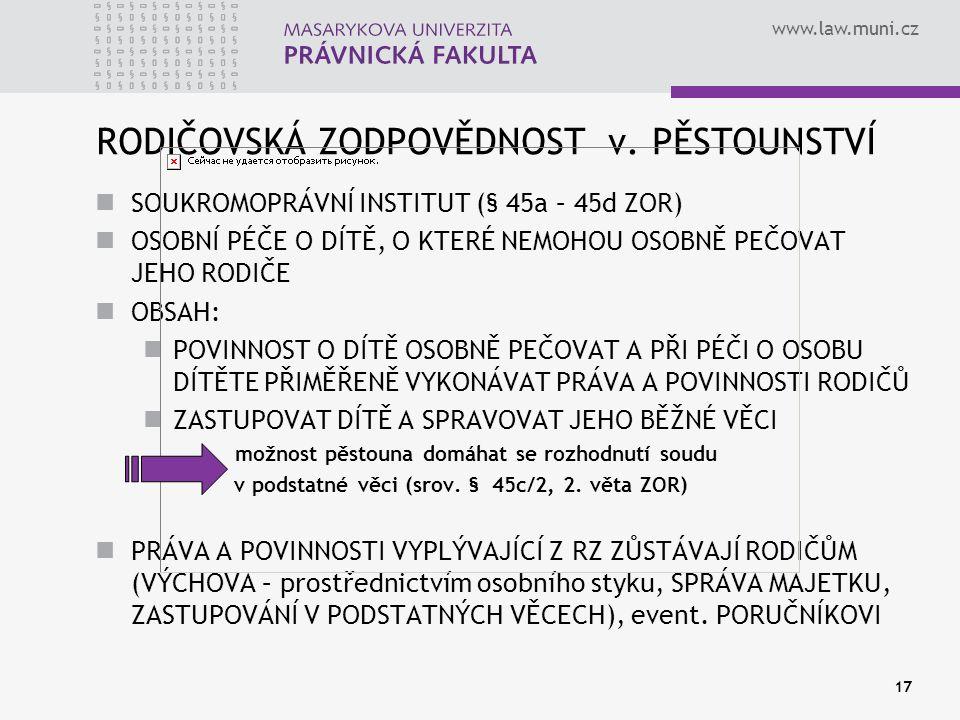 www.law.muni.cz 17 RODIČOVSKÁ ZODPOVĚDNOST v.