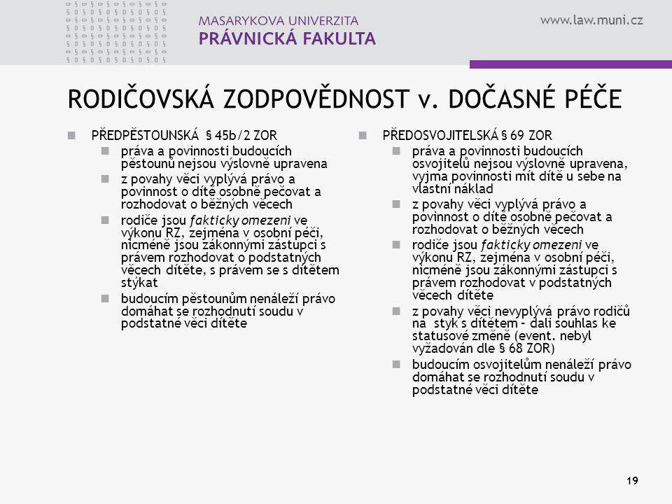 www.law.muni.cz 19 RODIČOVSKÁ ZODPOVĚDNOST v.