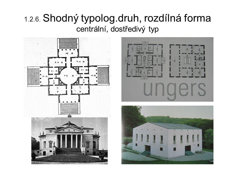 1.2.6. Shodný typolog.druh, rozdílná forma centrální, dostředivý typ