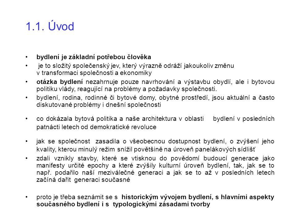 DEFINICE POJMŮ Studijní literatura Normy: ČSN 73 4301 (2004) Obytné budovy Normy související citované v ČSN 73 4301 Vyhláška MMR č.137/ 1998 Sb.