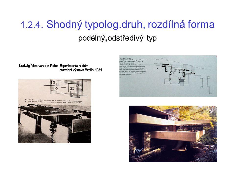 1.2.5. Shodný typolog.druh, rozdílná forma bytový dům pavlačový