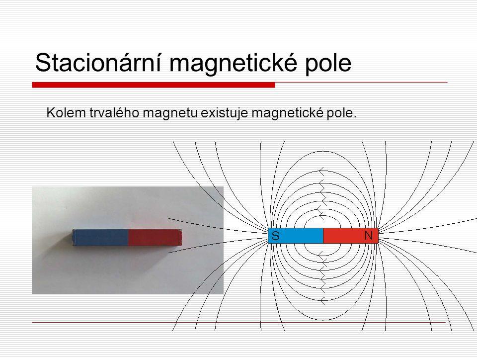 Stacionární magnetické pole Kolem trvalého magnetu existuje magnetické pole.