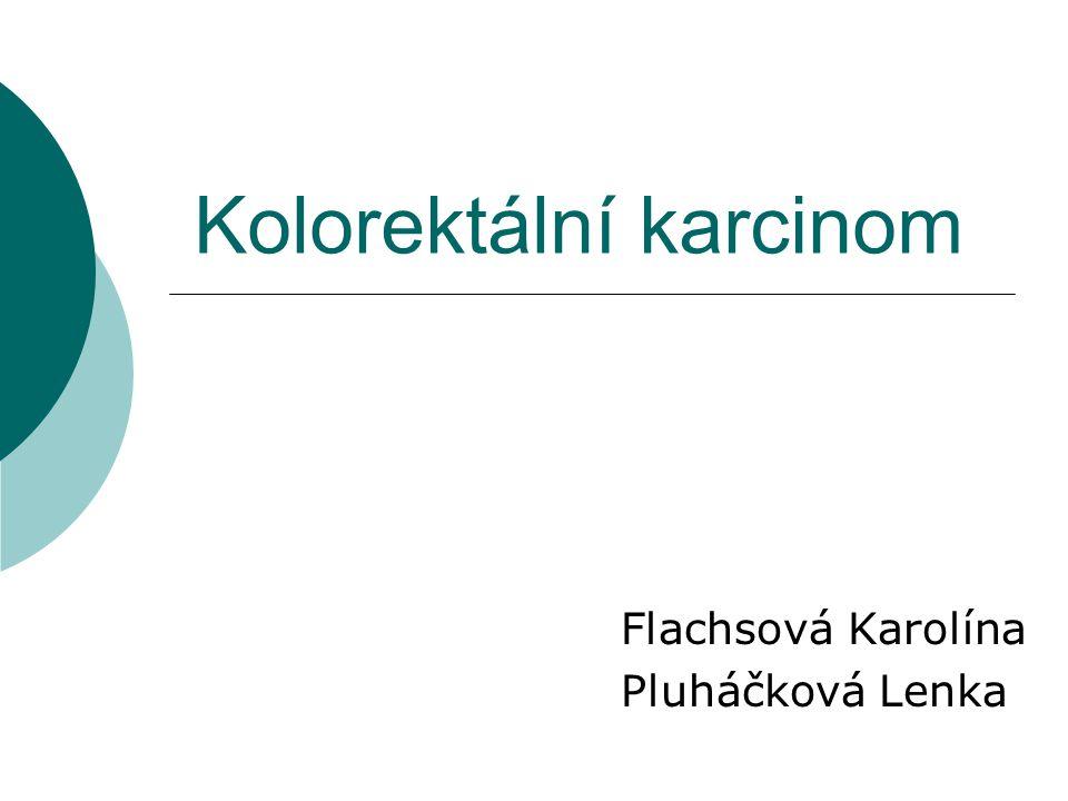 Kolorektální karcinom Flachsová Karolína Pluháčková Lenka