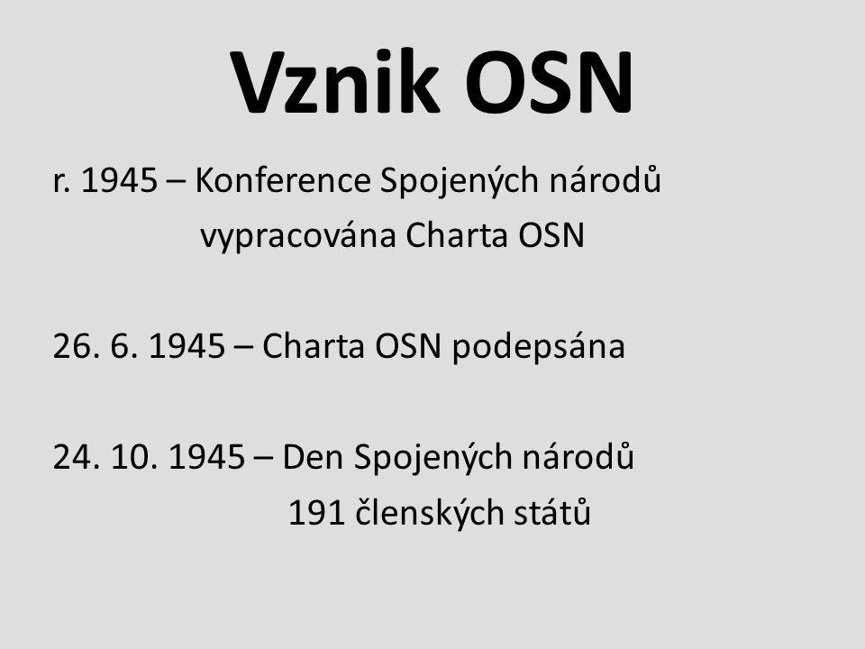 Historie OSN r.