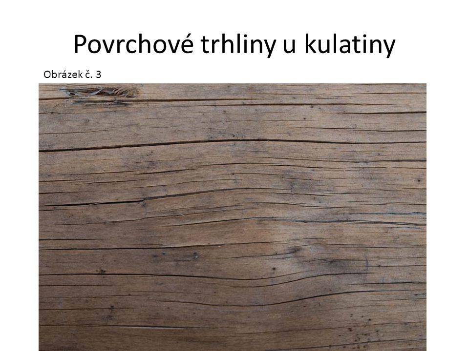 Povrchové trhliny u kulatiny Obrázek č. 3