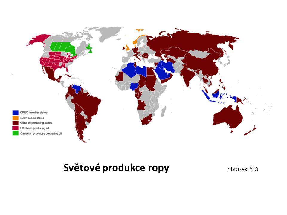 Světové produkce ropy obrázek č. 8