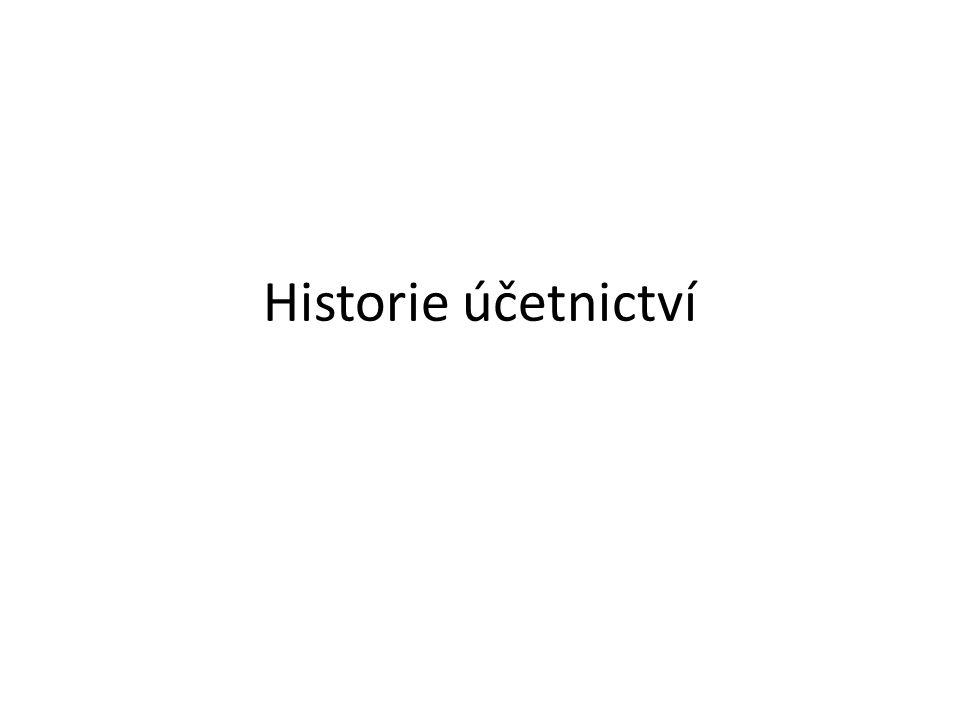 """Účetnictví bez čísel – """"na vrub Dějiny účetnictví začínají v pravěku, kdy se ještě před vznikem písma například pomocí zářezů do kostí či dřeva zaznamenávaly počty kusů dobytka a jiného majetku."""