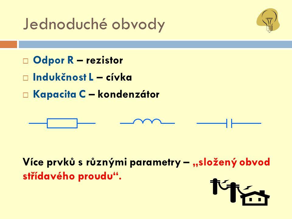 "Rezistor - obvod s R  Okamžitá hodnota "" i :  Amplituda střídavého proudu "" I m :"