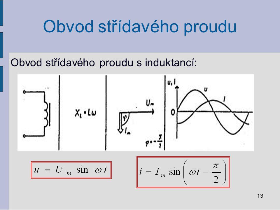 Příklad: Ideální cívka o indukčnosti 0,12 H je připojena na zdroj harmonického napětí V.