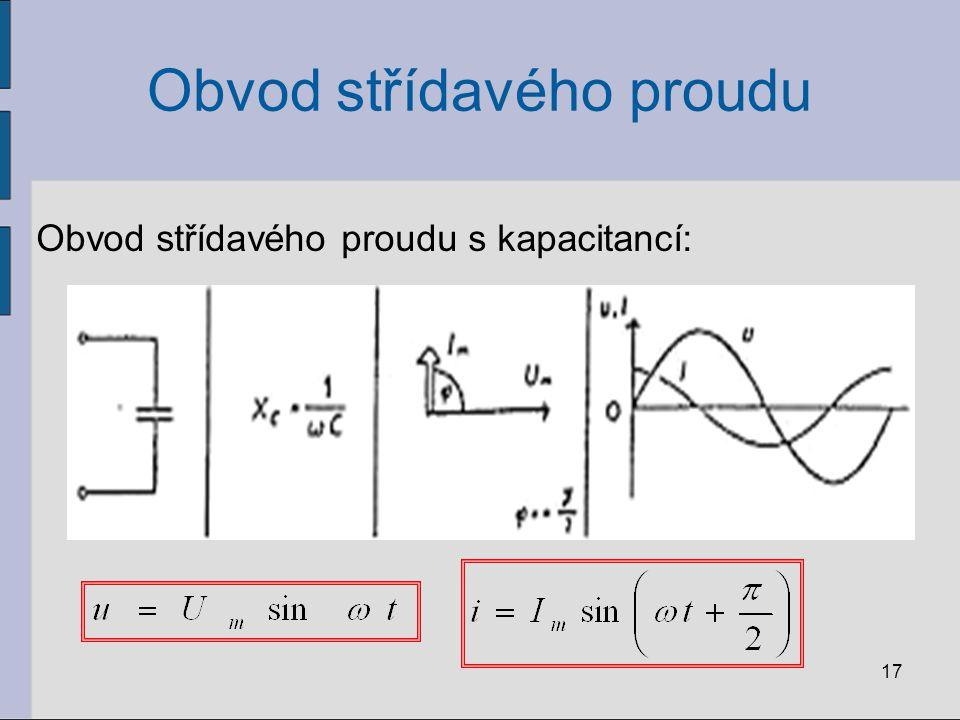 Příklad: Harmonický proud o frekvenci 1 kHz má amplitudu proudu a napětí na kondenzátoru 12 A a 230 V.