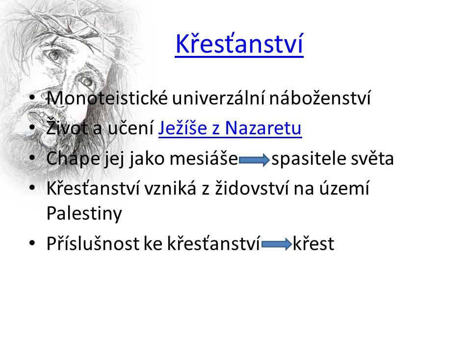  Vznik křesťanství  Základní charakteristika náboženství  Ježíš Nazaretský