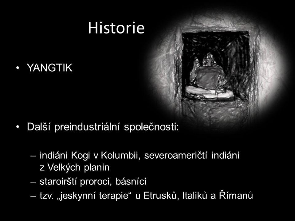 Historie YANGTIK Další preindustriální společnosti: –indiáni Kogi v Kolumbii, severoameričtí indiáni z Velkých planin –staroirští proroci, básníci –tz