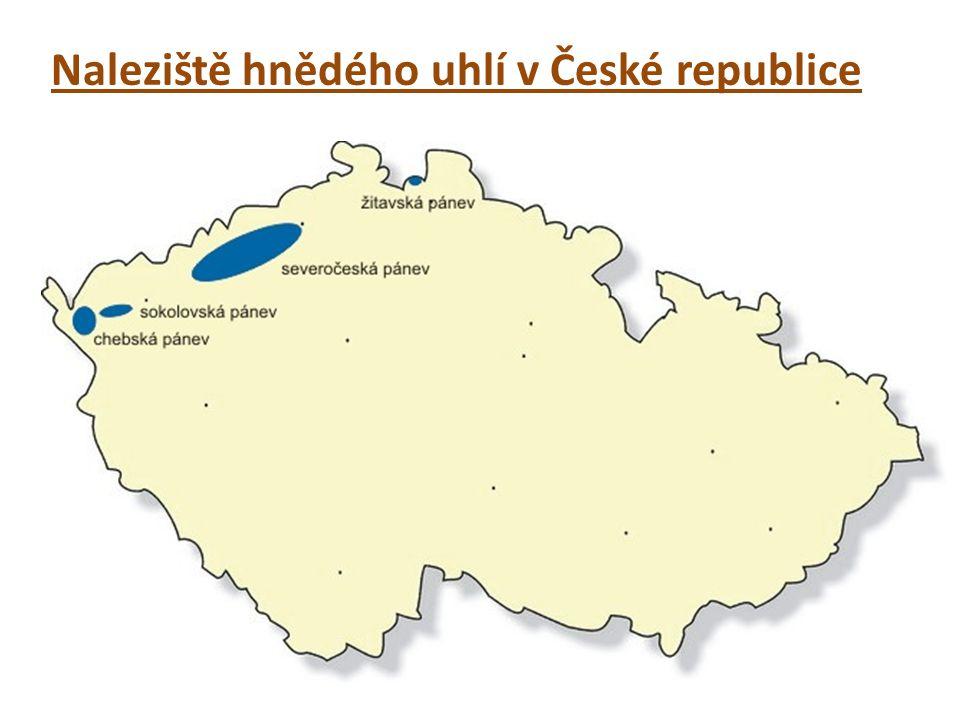 Naleziště hnědého uhlí v České republice