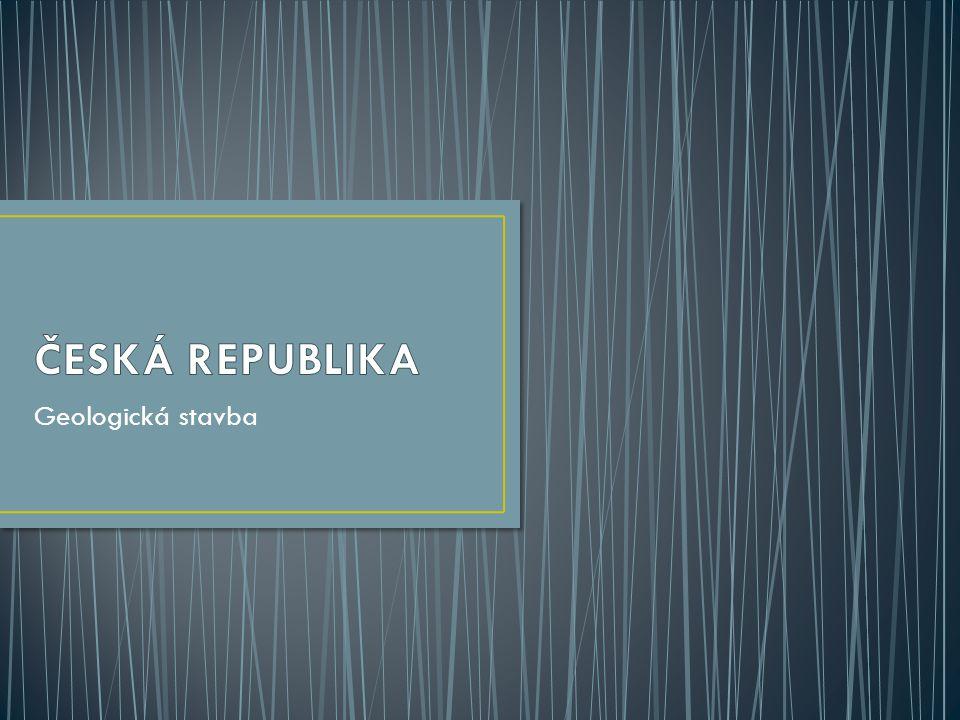 V ČR najdeme 2 odlišné typy zemské kůry: Z - stará, konsolidovaná kůra západoevropské platformy  Český masív V - mladá kůra alpsko-himálajského systému  Západní Karpaty mocnost zemské kůry: - v centrální části (30-40 km) max.: 42 km (Sedlčansko)