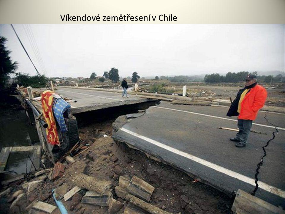 Víkendové zemětřesení v Chile