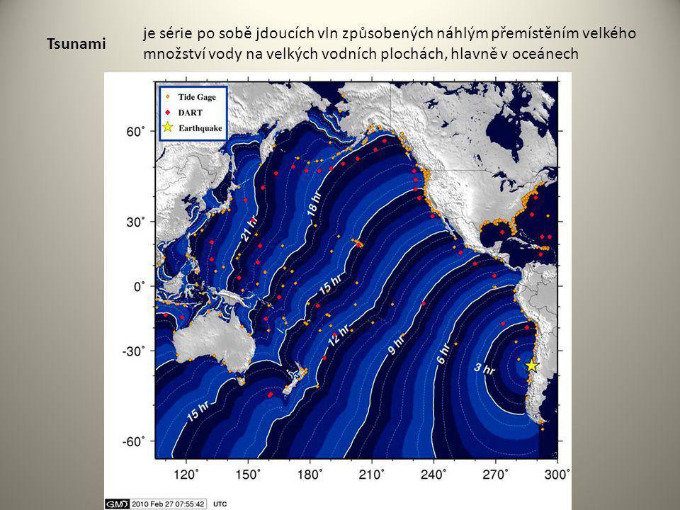 Tsunami je série po sobě jdoucích vln způsobených náhlým přemístěním velkého množství vody na velkých vodních plochách, hlavně v oceánech