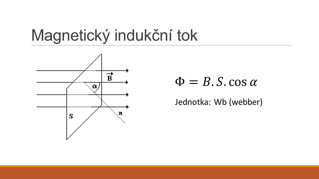 Magnetický indukční tok Jednotka: Wb (webber)