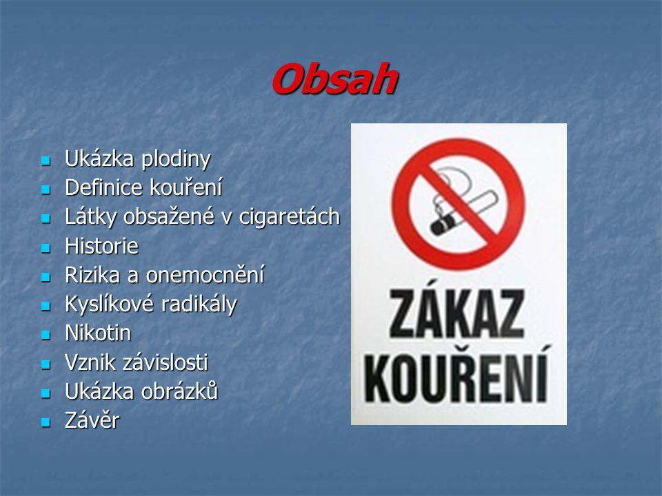 Účinky nikotinu V menších dávkách zvyšuje sekreci slin, žaludečních šťáv a potu, zesiluje peristaltiku a tonus děložního svalu.