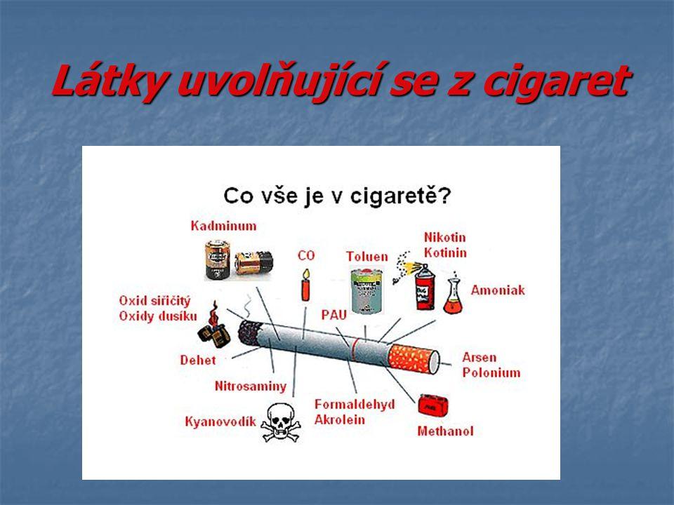 Ukázka obrázků – zdravá plíce a kuřákova Rozdíl je znát ……….