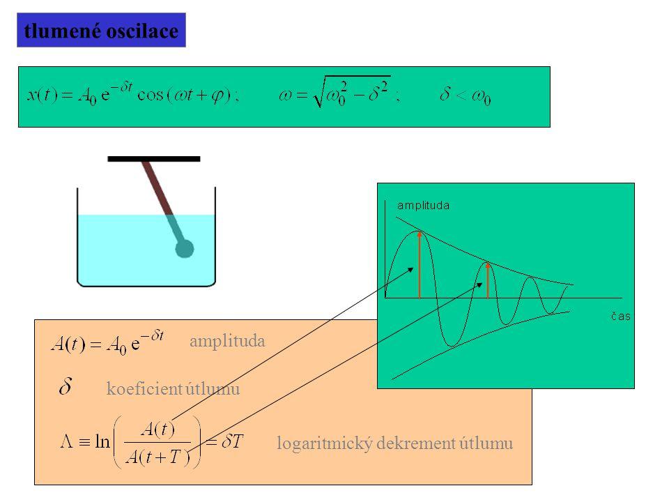 tlumené oscilace koeficient útlumu logaritmický dekrement útlumu amplituda