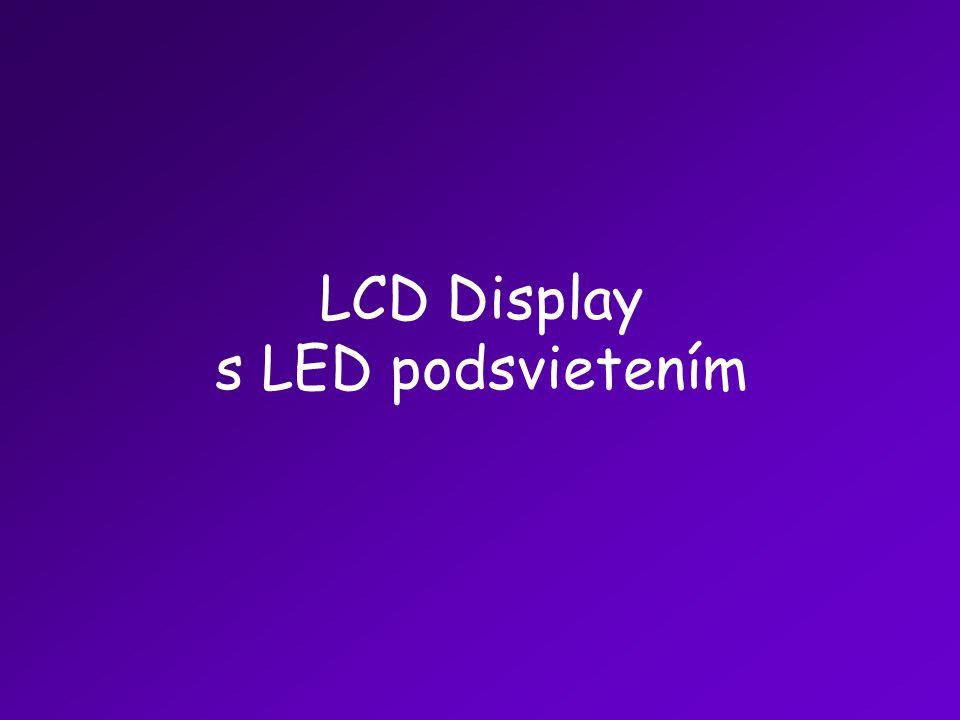 LCD Display s LED podsvietením