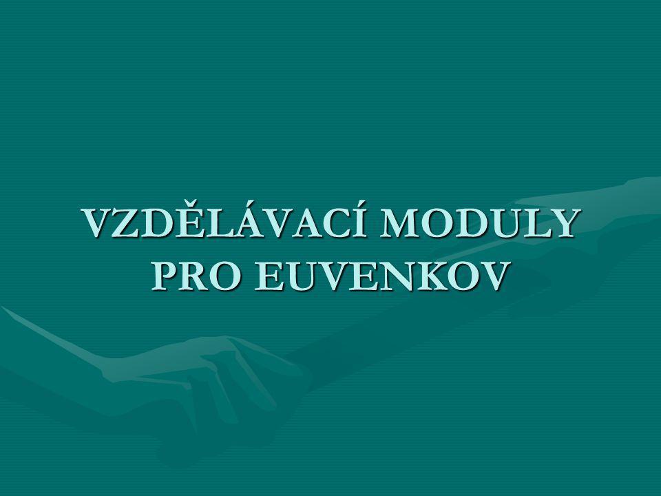 VZDĚLÁVACÍ MODULY PRO EUVENKOV