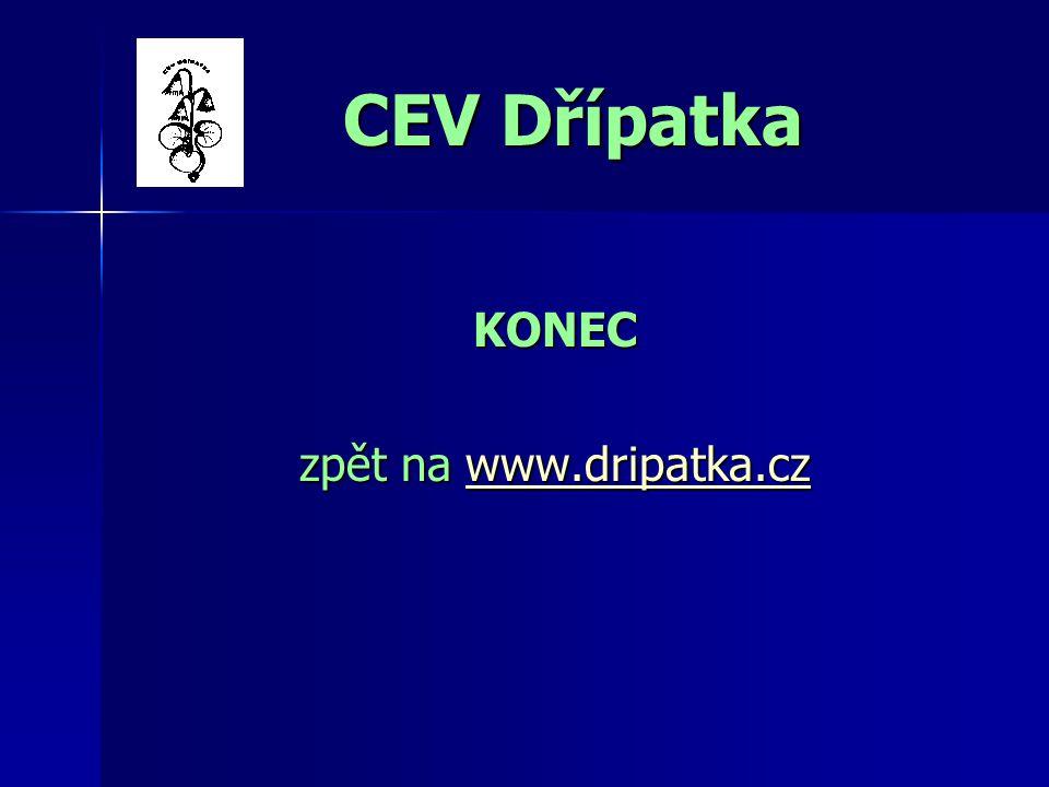 CEV Dřípatka KONEC zpět na www.dripatka.cz www.dripatka.cz