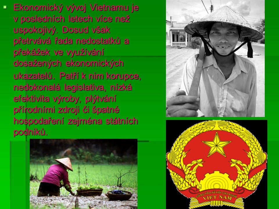  Ekonomický vývoj Vietnamu je v posledních letech více než uspokojivý.