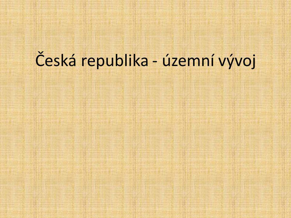 Česká republika - územní vývoj