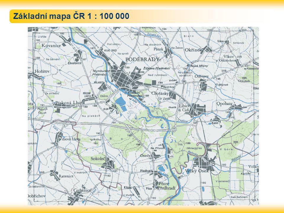 Základní mapa ČR 1 : 100 000