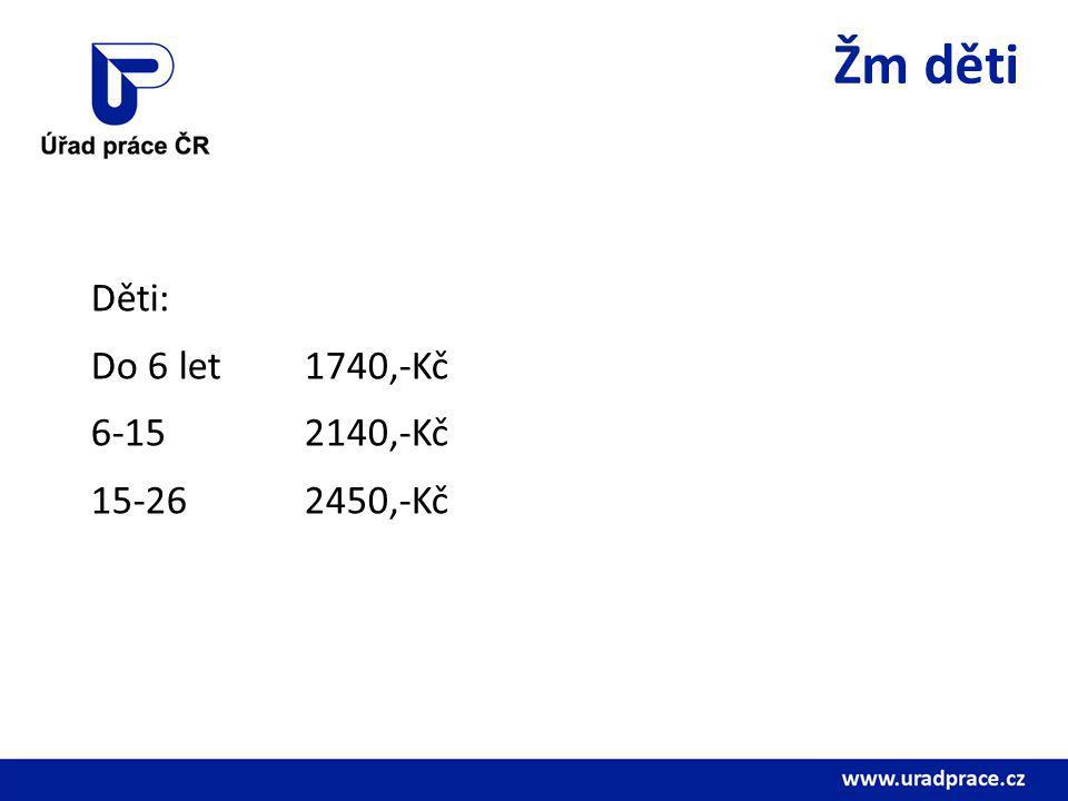 Částky PnP dospělí Dospělí I.St.3-4 potřeby800,-Kč II.St.