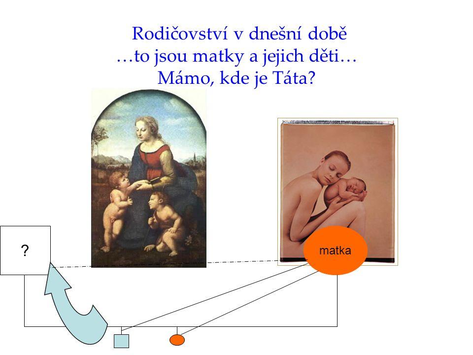 Rodičovství v dnešní době …to jsou matky a jejich děti… Mámo, kde je Táta matka