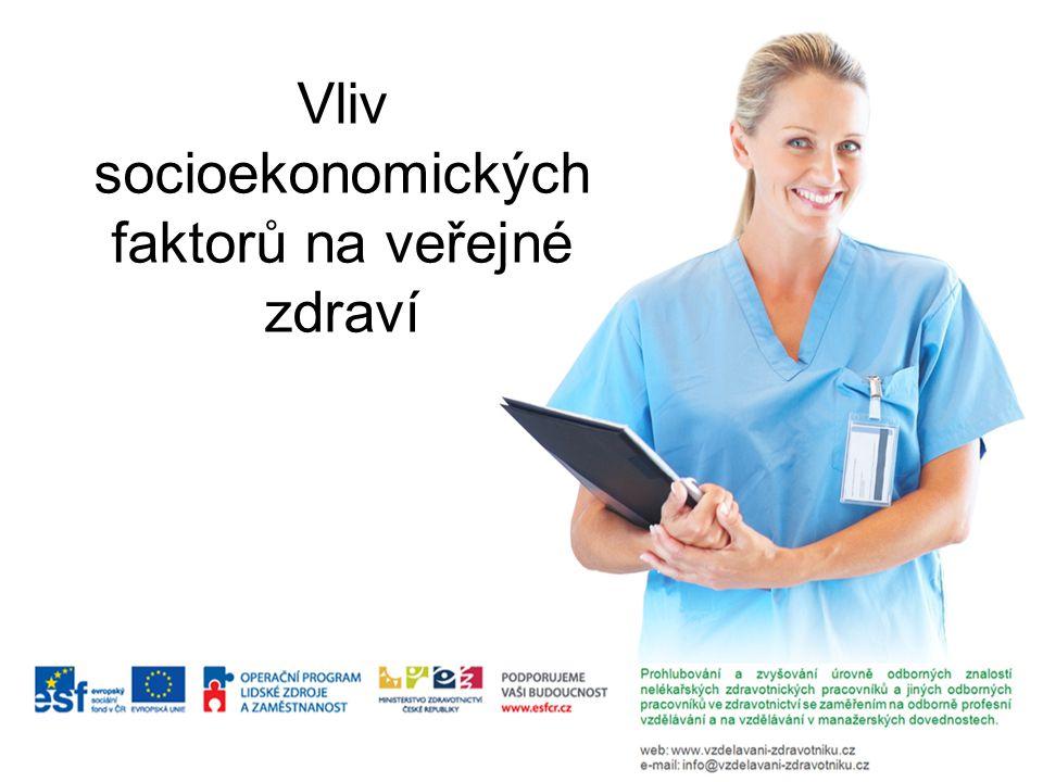 Socioekonomické faktory působící na zdraví Socioekonomický status (SES) Sociální opora (SO) Životní události (ŽU) Odlišnosti a nerovnosti ve zdraví