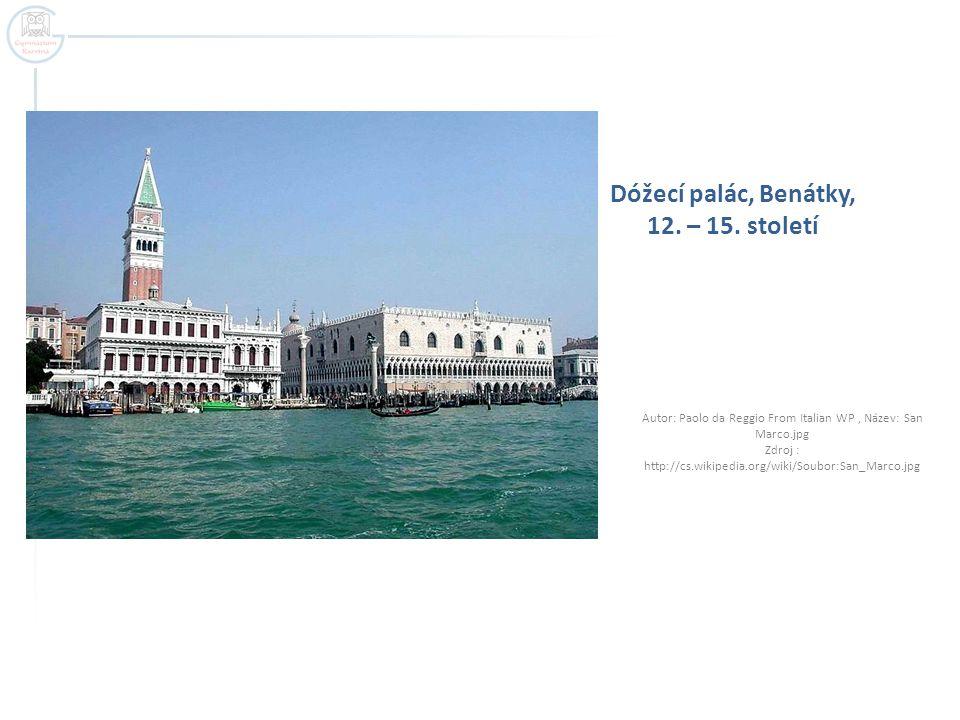 Dóžecí palác, Benátky, 12.– 15.