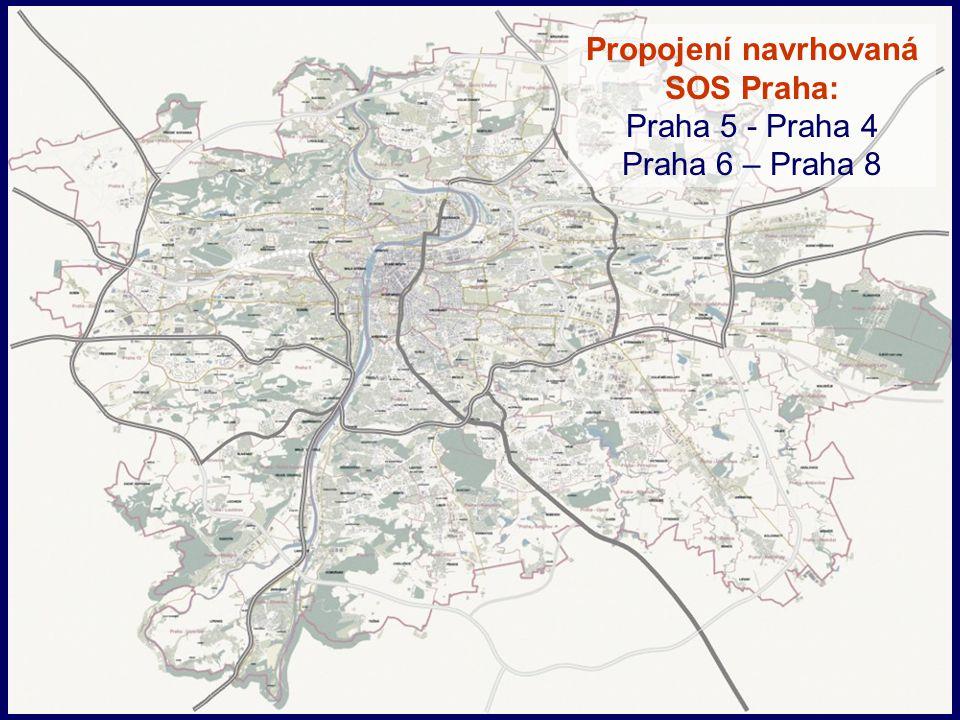 Propojení navrhovaná SOS Praha: Praha 5 - Praha 4 Praha 6 – Praha 8