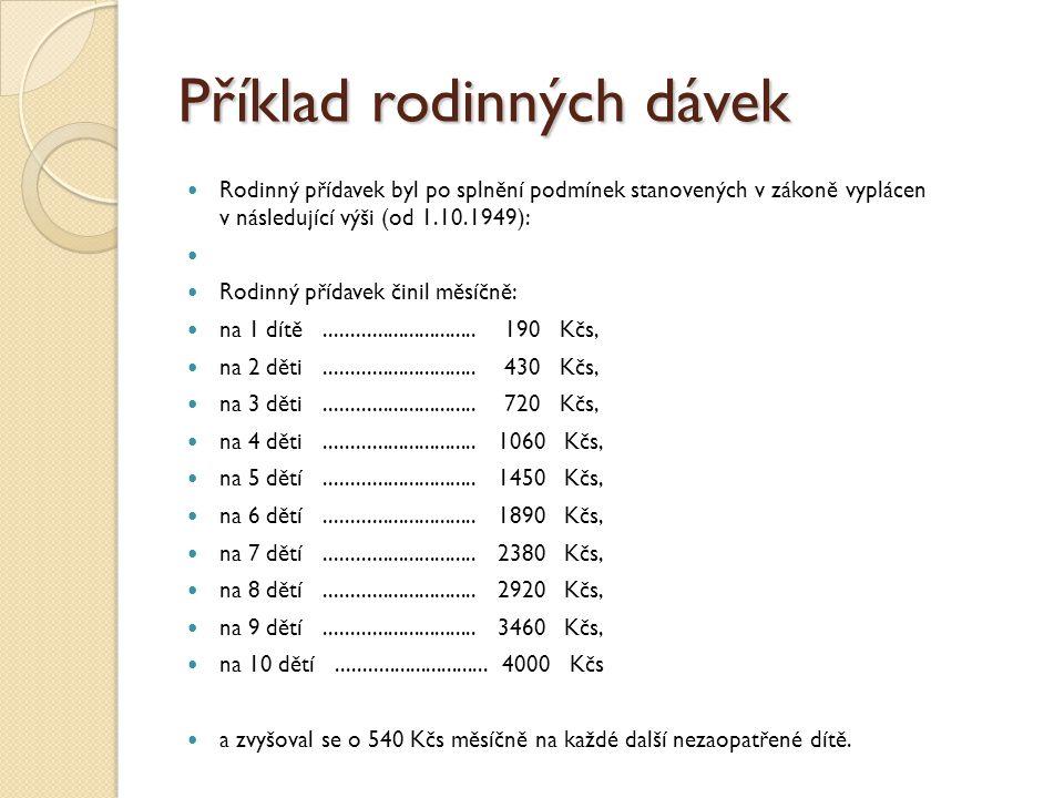 Výše PnD: Výše PnD činí za kalendářní měsíc, jde-li o nezaopatřené dítě podle věku: do 6 let, 500 Kč, od 6 do 15 let, 610 Kč, od 15 do 26 let, 700 Kč.