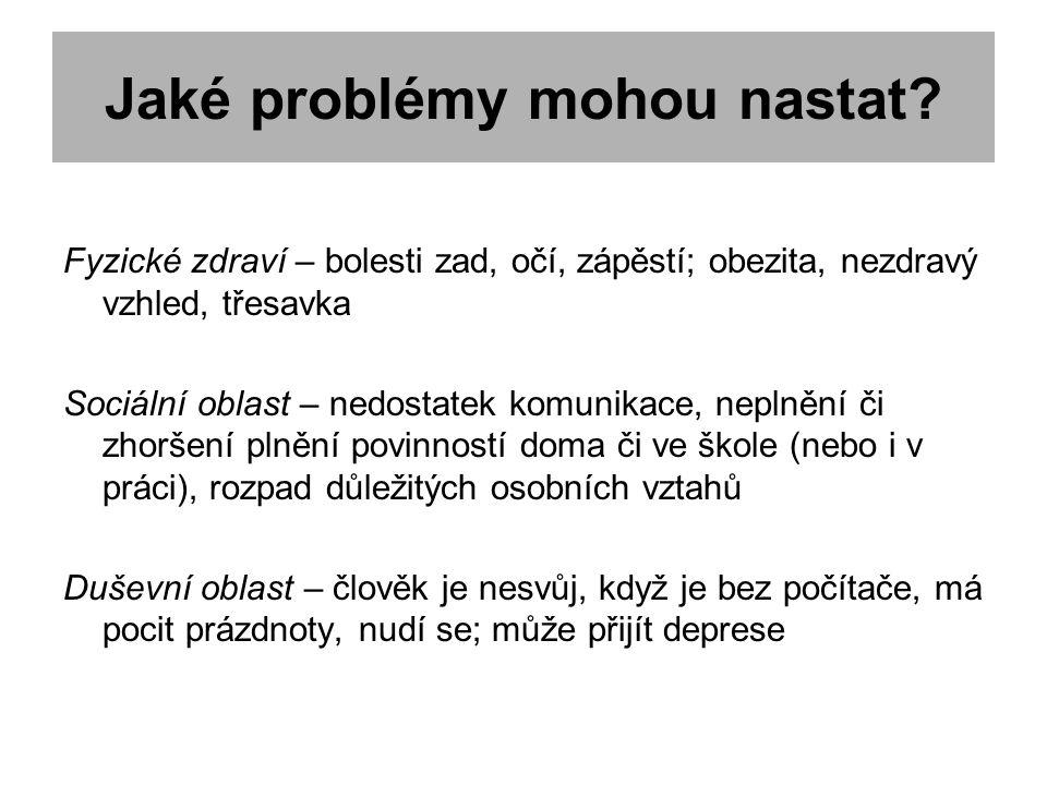 Jaké problémy mohou nastat.