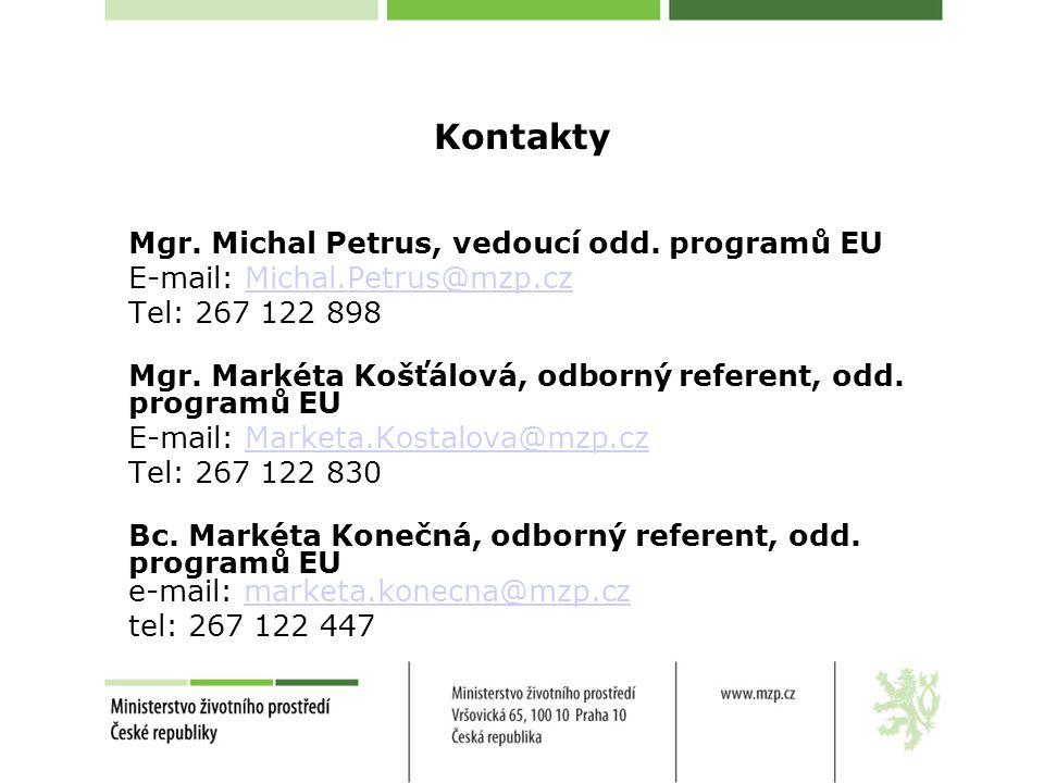 Kontakty Mgr.Michal Petrus, vedoucí odd.