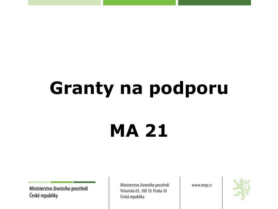 Granty na podporu MA 21