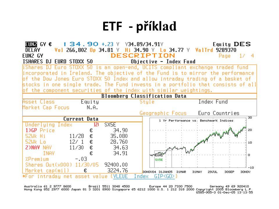 ETF - příkl ad