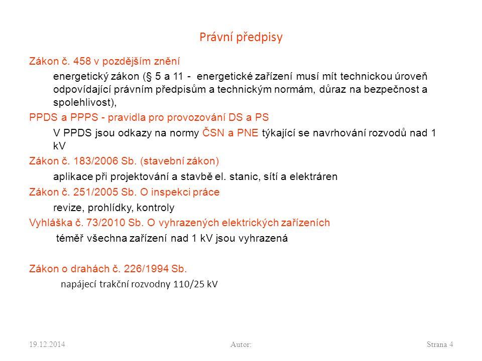 Normy Mezinárodní a evropské EN 50522:2010 – uzemňování pro el.