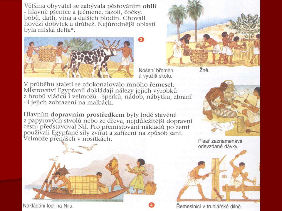 NÁBOŽENSTVÍ   důležitou roli v Egyptě měli kněží   postupně byli stále více nezávislí na faraónovi (v některých dobách řídili celou říši)   Egypťané uctívali téměř 2500 bohů  např.
