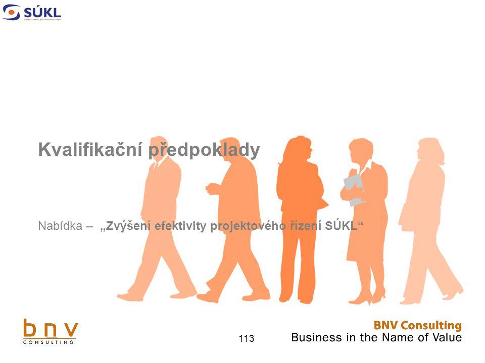 """113 Kvalifikační předpoklady Nabídka – """"Zvýšení efektivity projektového řízení SÚKL"""