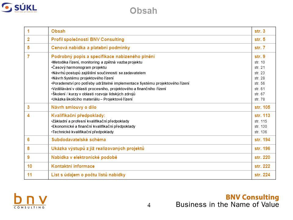 4 Obsah 1 str.3 2Profil společnosti BNV Consultingstr.