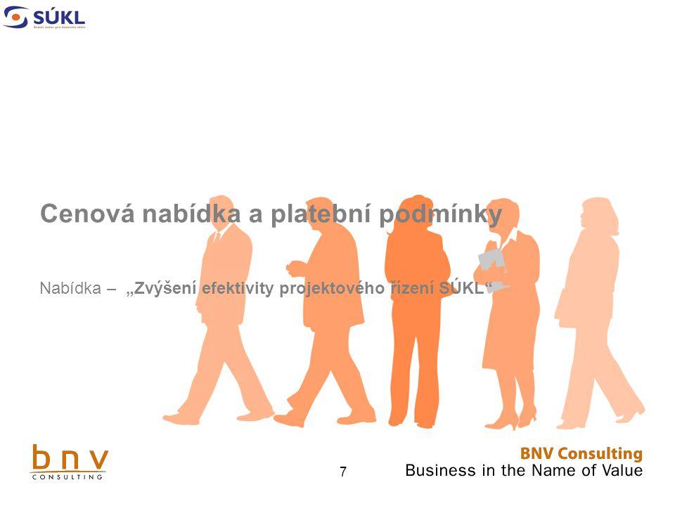 """128 Čestné prohlášení Prohlašuji a potvrzuji, že společnost BNV Consulting, s.r.o., jako uchazeč o veřejnou zakázku: """"Zvýšení efektivity projektového řízení SÚKL je vázána celým obsahem nabídky, a to po celou dobu běhu zadávací lhůty."""