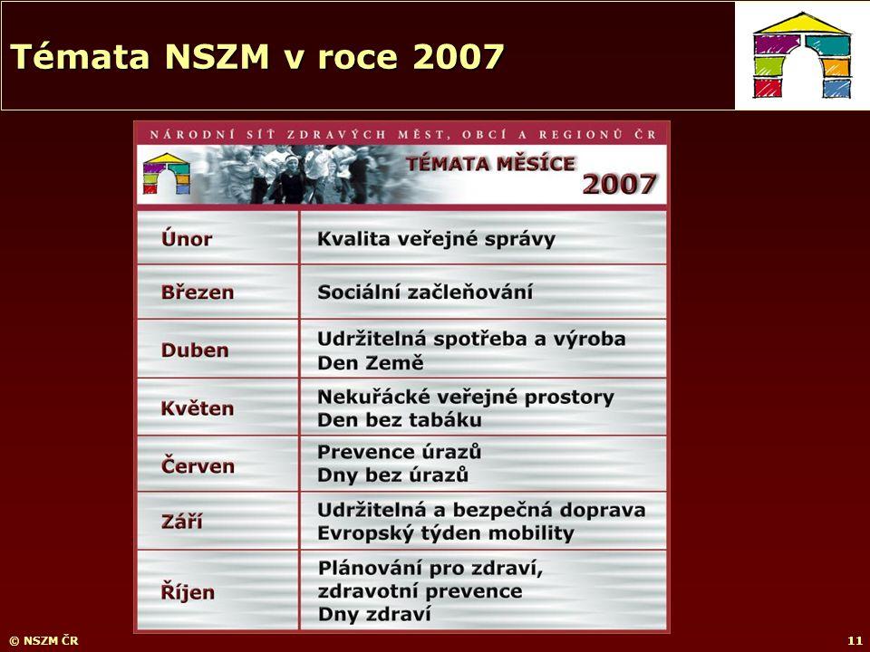 11© NSZM ČR11 Témata NSZM v roce 2007