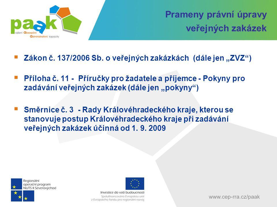 § 2 ZVZ – Zadavatel veřejné zakázky Veřejný zadavatel ČR, státní příspěvková organizace, územní samosprávný celek nebo příspěvková organizace jím zřizovaná a jiné právnické osoby dle § 2 odst.