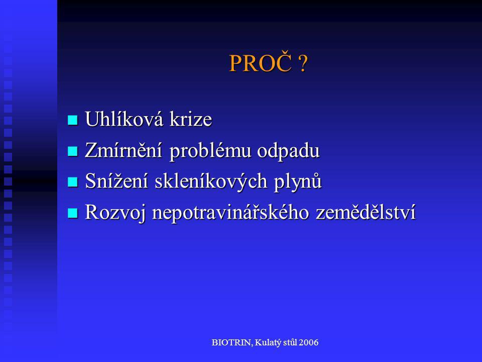 BIOTRIN, Kulatý stůl 2006 PROČ . PROČ .