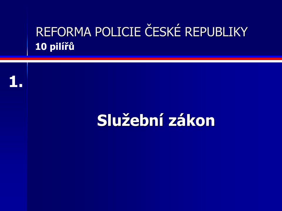 Služební zákon REFORMA POLICIE ČESKÉ REPUBLIKY 1. 10 pilířů